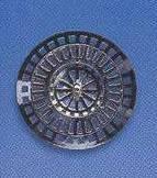Lapač nečistot pokovený Ø 6,3 cm