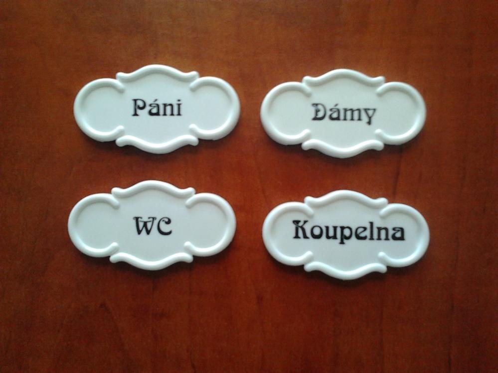 Bytové označení samolepící Páni, Dámy, WC,Koupelna